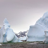 Soft serve ice form in the bay at Detaille Island, Antarctic peninsula
