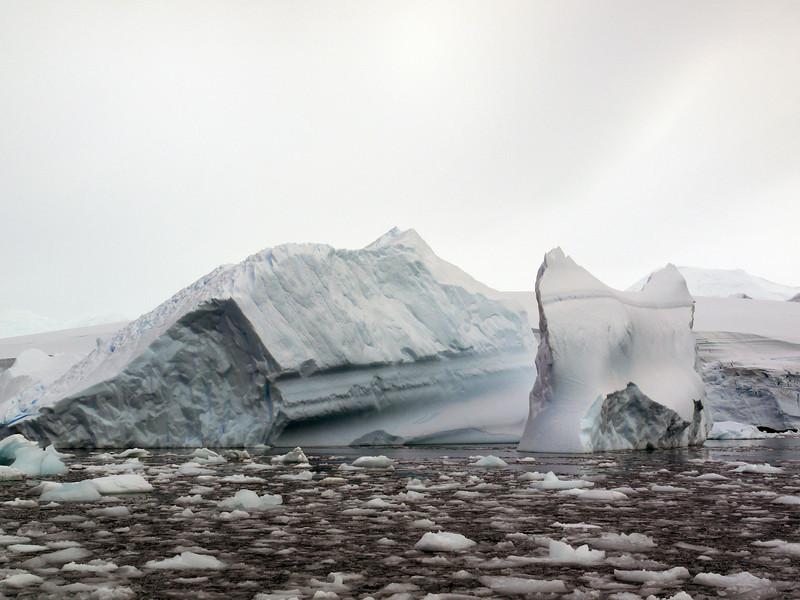 Massive icebergs in the Crystal Sound, Antarctic peninsula