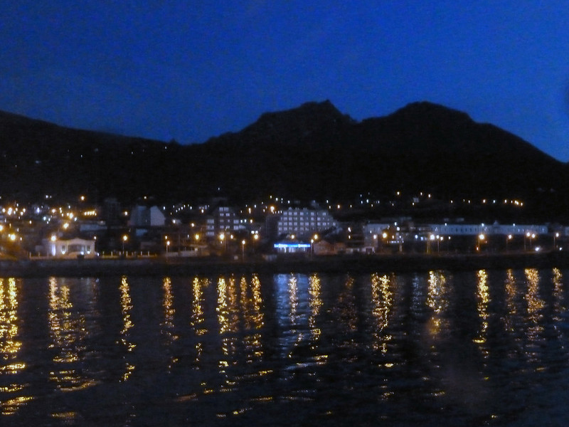 Last night on board ship in Ushuaia, Argentina