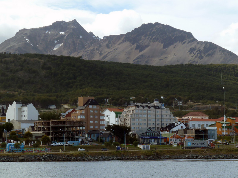 Harbourfront in Ushuaia, Argentina