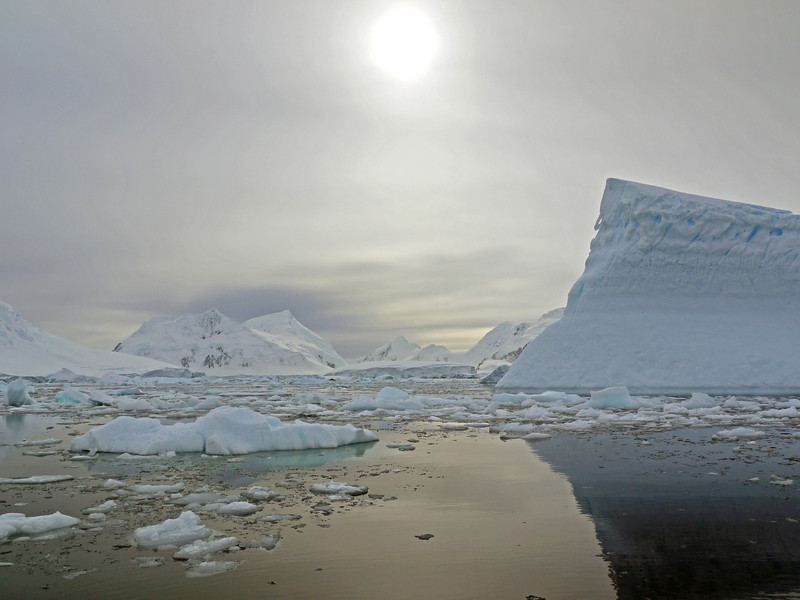 "Icebergs and ""bergy-bits"" in the Crystal Sound, Antarctic peninsula"