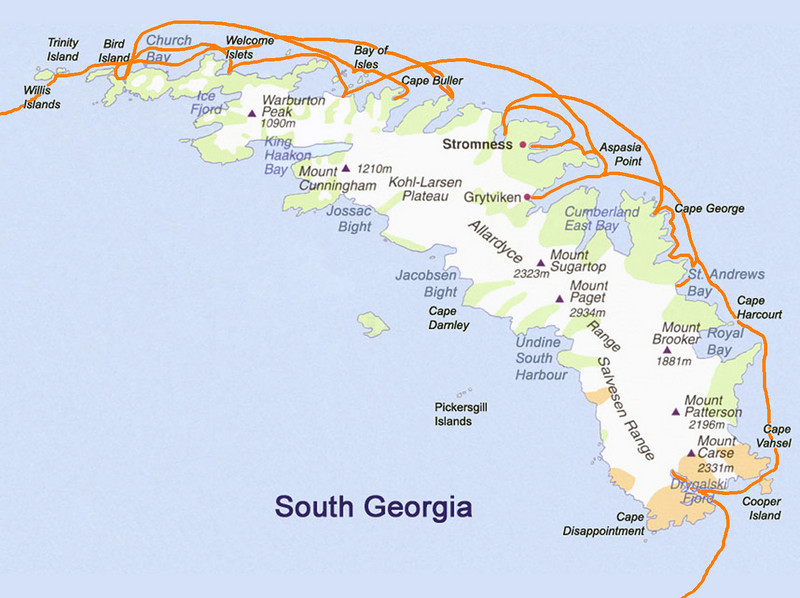0000B - South-Georgia Map