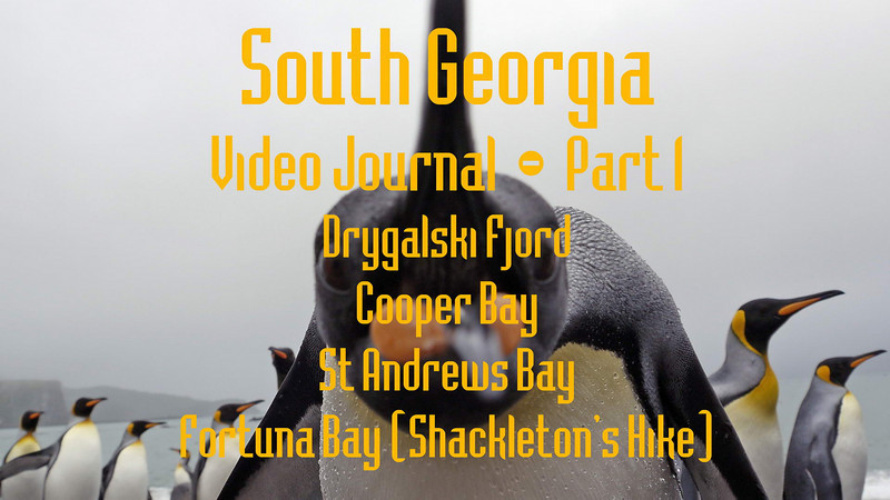 Part 1<br /> South Georgia Video Journal<br /> Drygalski Fjord, Cooper Bay, St Andrews Bay, Fortuna Bay (Shackleton's Hike)