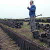 Explanation on how to harvest peat near Stanley, Falkland Islands