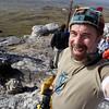 Summit conquered! at Mount Tumbledown, Falkland Islands