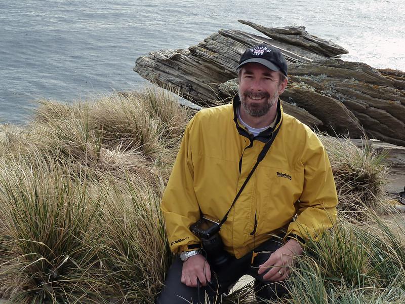 "At the Albatrosses' ""landing strip"" on New Island, Falkland Islands"
