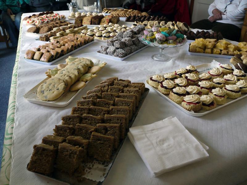 Morning teatime spread on Carcass Island, Falkland Islands