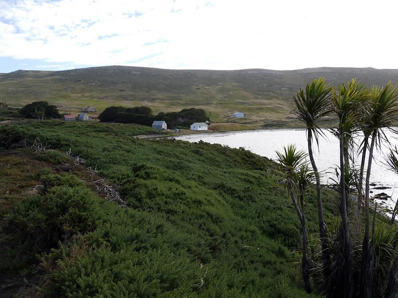 Modest homestead on Carcass Island, Falkland Islands