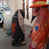 Artistic penguins at the Maritime Museum in Ushuaia, Argentina