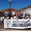 """Mothers of """"The Disappeared"""" perform their weekly protest march in front of the Casa Rosada in Buenos Aires, Argentina"""