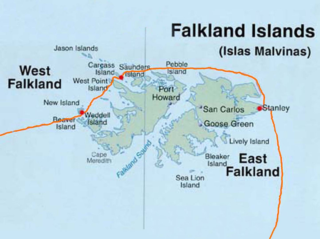 "Here is a detailed map of the voyage through the Falkland Islands: Stanley & Environs, Mount Tumbledown, Carcass Island & New Island,<br /> Part of a 3 week, 4,600 mile epic journey on the National Geographic Explorer expeditionary vessel from February through March 2011 to Antarctica; featuring the South Shetland Islands, Antarctic Peninsula, and travel well south of the Antarctic Circle.  Visits and landings to 11 key areas of interest along the Antarctic mainland and coastal islands.  Subsequent travel to and through 17 visits and landings in South Georgia, (UK Sub-Antarctic Territory), and the Falkland Islands.  Starting and ending in Ushuaia, Tierra del Fuego Patagonia, Argentina.<br /> <br /> For a full account of my personal experiences over the course of the trip, see the detailed Log in the ""Antarctica"" gallery here:<br /> <br /> <br /> <a href=""http://www.madexpat.com/Adventure-Trips/2011-02-Antarctica/Log/16300497_fLE3C"">http://www.madexpat.com/Adventure-Trips/2011-02-Antarctica/Log/16300497_fLE3C</a>"