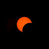 The partial eclipse nears the mid-way point.