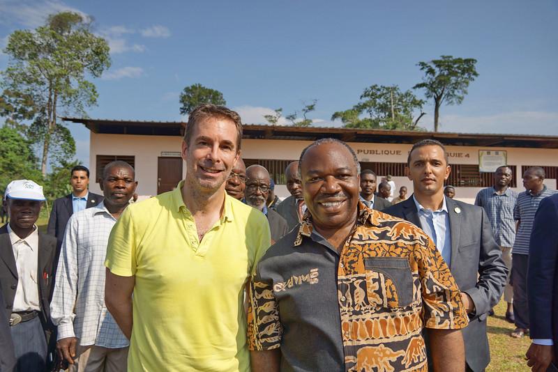 Ali Bongo Ondimba, <br /> The President of Gabon <br /> and I, at the Total Solar <br /> Eclipse of 3 November <br /> 2013 in Benguie 4 Village, <br /> Rural Gabon, Equatorial <br /> West Africa.