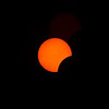 Clear skies enable a sharp view of the progress of the eclipse.