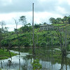 Peaceful riverine scene in rural Gabon.