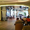 It's all about circles in the vast Turkish Airlines lounge at Istanbul airport;