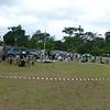 VIP area cordoned off in the village centre.