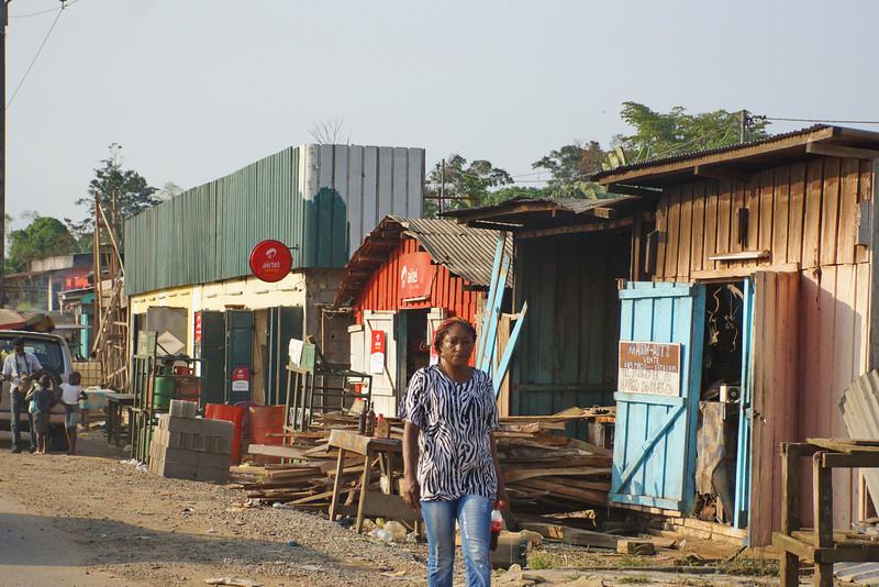 More roadside developemnt outside Libreville.
