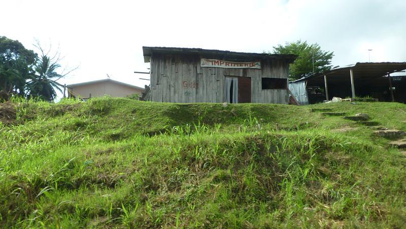 More village farm buildings in rural Gabon.