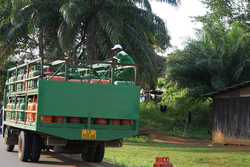 Rural gas deliveries in Gabon.
