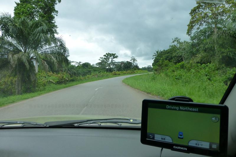 The faithful Garmin GPS doesn't have a clue where we are!