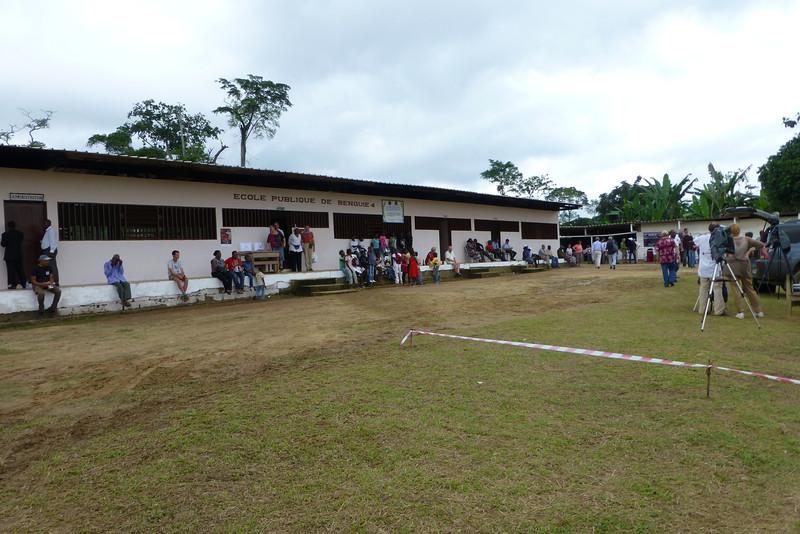 Benguie 4 village public school alongside the town centre in rural Gabon.