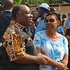 Ali Bongo Ondimba, <br /> The President of Gabon <br /> glad-handing the locals.