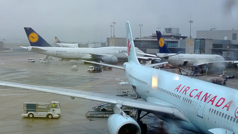 More waiting in the Lufthansa lounge in Frankjurt before my next direct flight to Libreville, Gabon.