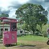 Roadside kiosk in rural Gabon.