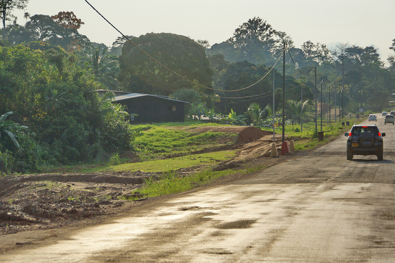 On the road back to Libreville.
