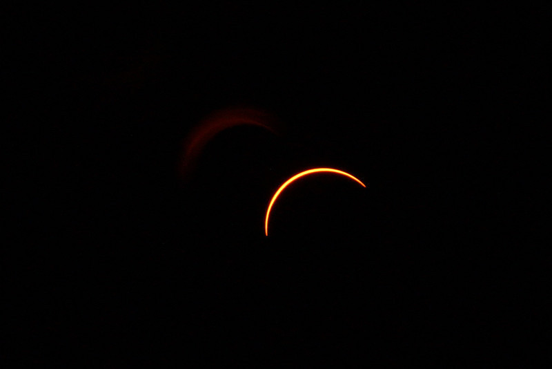 The partial eclipse at 95%, just minutes before totality.
