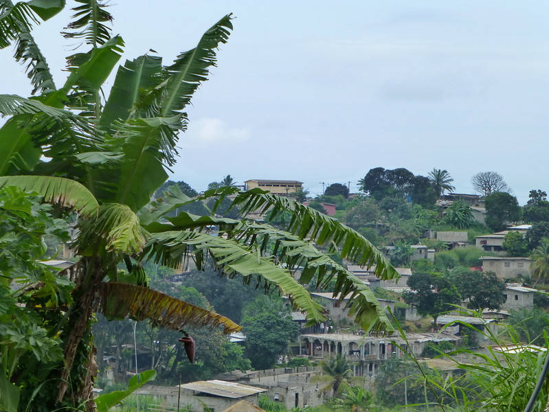 Driving out of Libreville into the jungle, on the way to the eclipse site 4 hours down the road.