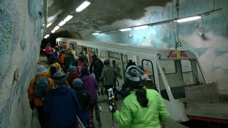 """Hmmm - <br /> """"painted"""" ice - well at least the tram ALWAYS runs - no closure due to high winds or avalanche!"""