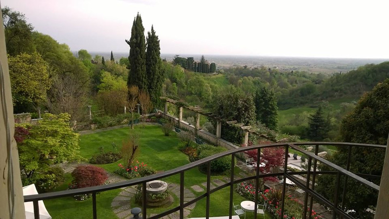 Room with a view - visiting old friends in the ancient town of Asolo, in the hills above Venice