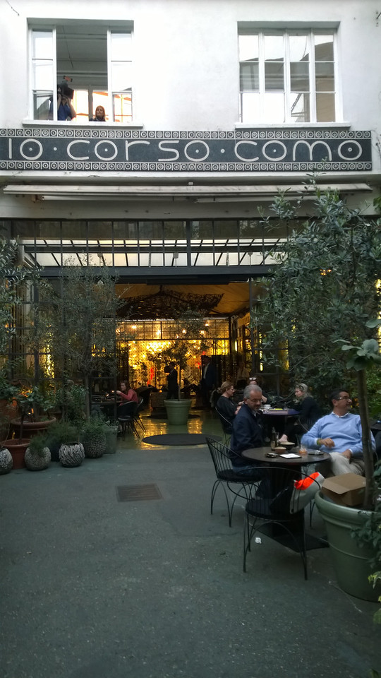 """Checking out """"the scene"""" at a pre-dinner function at 10 Corso Como, (like a Fred Segal, but more interesting)!"""