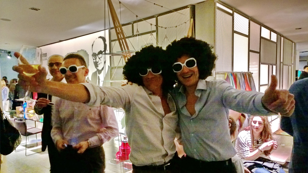 """Two """"wild & crazy guys"""" at Cassina in via Durini"""