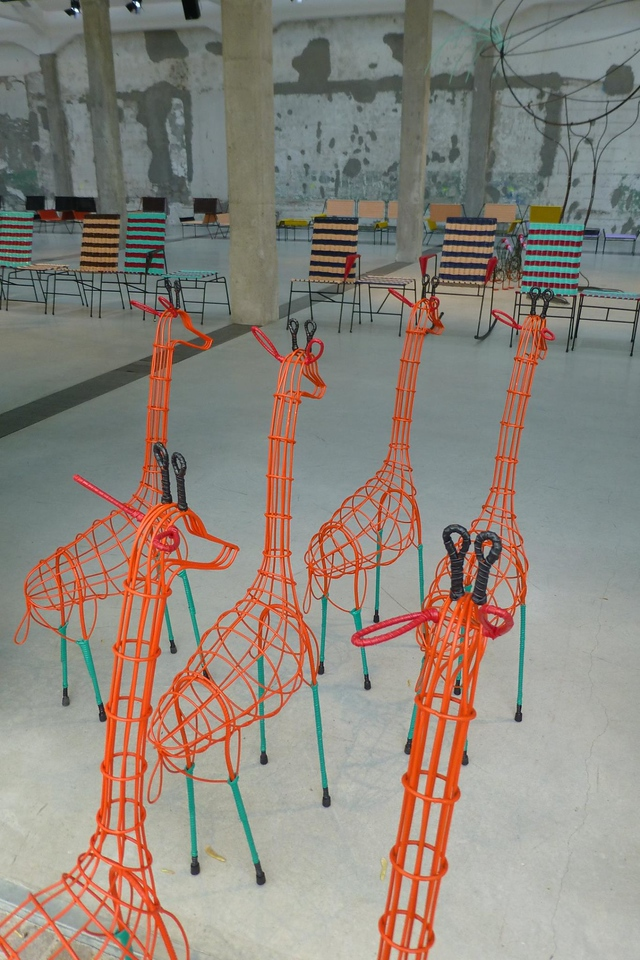 """""""Animal House"""" - Marni exhibition of limited edition furniture and animals handmade by a group of Colombian women in aid of terminally ill children."""