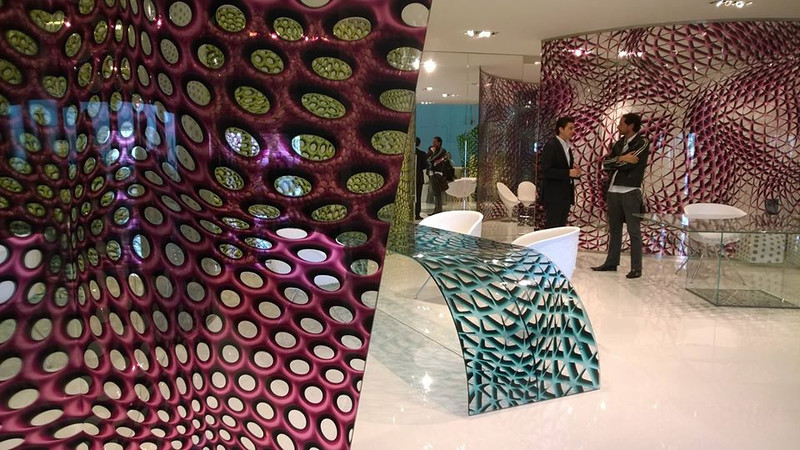 Very interesting printed glass products . . .