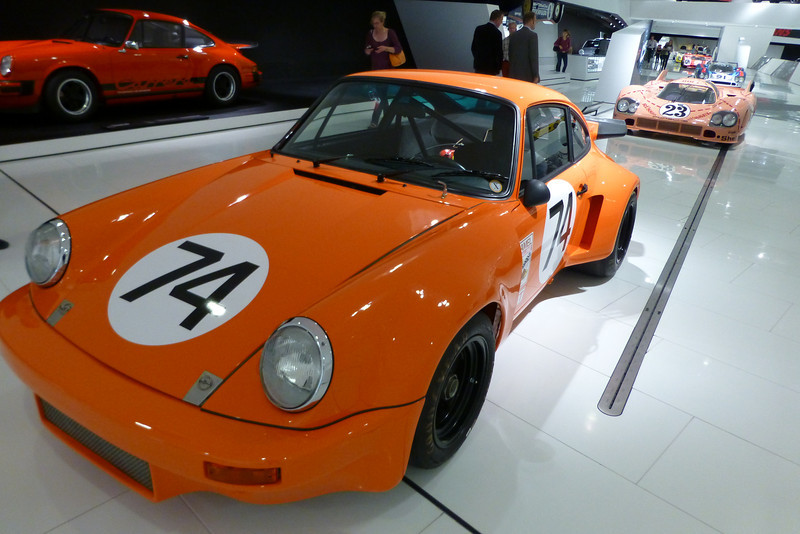 MORE Orange at the Porsche museum in Stuttgart