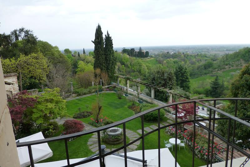 View from Villa Cipriani in Asolo