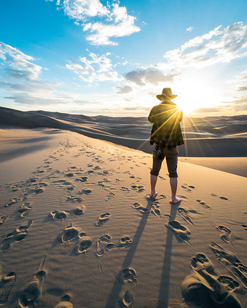 Frankieboy Photography    Sunset Over Sand Dunes Trail   Travel Photography Exploring Colorado