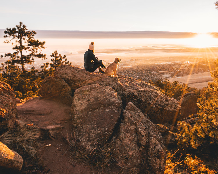Girl and Dog | Travel Photography Exploring Boulder Colorado