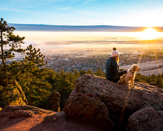 Girl, Dog, And Sunrise | Travel Photography Exploring Colorado