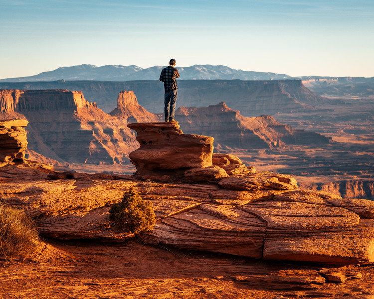Standing On Ledge | Travel Photography Explore Utah
