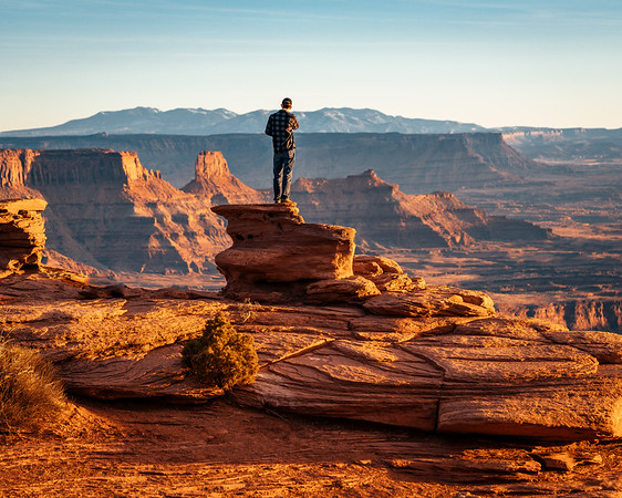 Standing On Ledge | Travel Photography Explore Utah