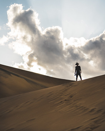 Man And Sand Dunes | Travel Photography Exploring Colorado