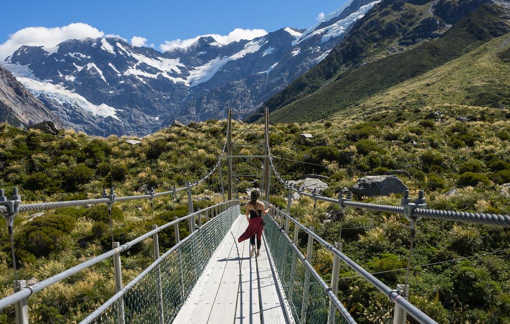 Emily Swing Bridge Mt. Cook National Park, New Zealand
