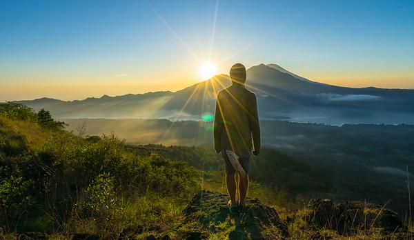 Sun Flare Mt. Batur