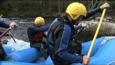 Splash White Water Rafting on the  River Tummel in Pitlochry Scotland. A great half day trip, or combine with other adventure activities to have a full on Splash Adrenaline Day visit  http://www.rafting.co.uk or call 01887 829706 to join in the fun and the adventure.