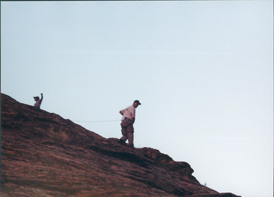 Coyote Gulch Trip 2004 - - Dave & Preston with Shane Nelson & Kids Repeled into canyon near Jacob Hamblin arch